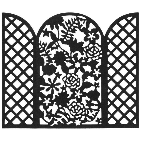 Stanzschablone, Blumengitter, 9,8cm x 11,6cm