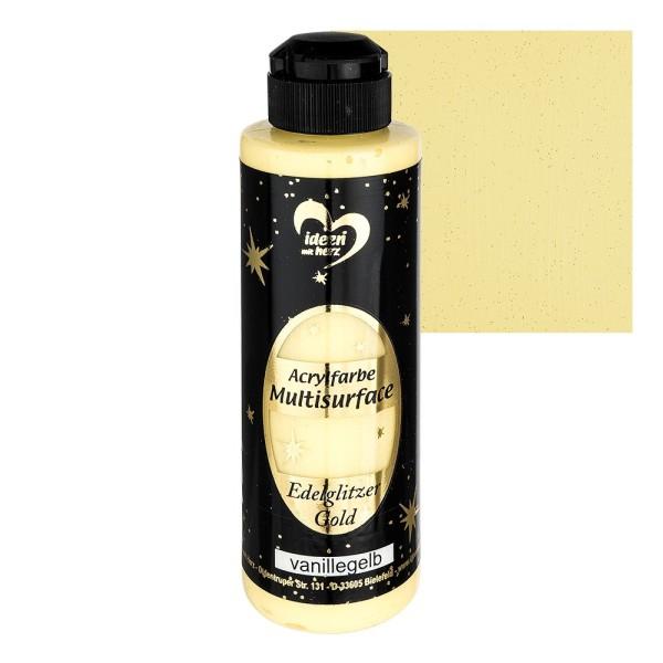 "Acrylfarbe ""Multisurface"", Edelglitzer Gold, vanillegelb, 180ml"