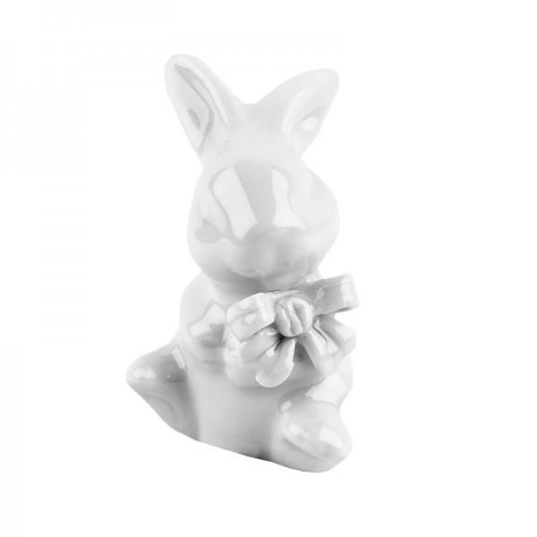 Deko-Hase, Porzellan, Design 4, weiß